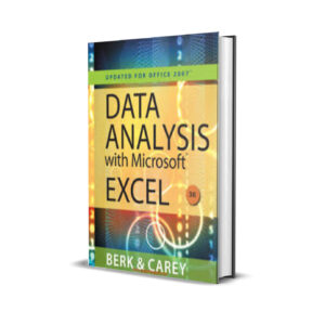 DATA ANALYSIS WITH MICROSOFT EXCEL – BERK AND CAREY