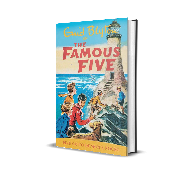 Five go to demon's rock:the famous five book 19- Enid Blyton